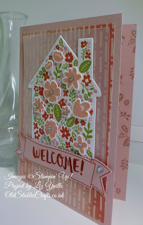 Home Life Welcome Card in shades of Pink