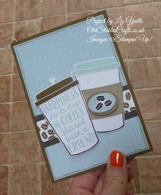 Coffee Cafe Friendship Card in Soft Sky