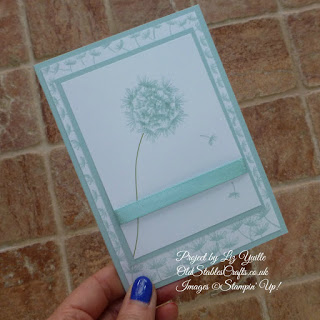 Balloon Celebrations Dandelion Card in Soft Sky
