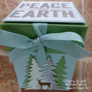 Carols of Christmas Soft Sky and Wild Wasabi Lidded Box