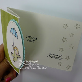 Moon Baby meets Petal Garden Z Fold card