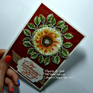 Painted Harvest Sunflower Card