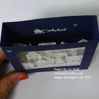 Top view of Hearts Come Home Tunnel Card in Night of Navy and Whisper White