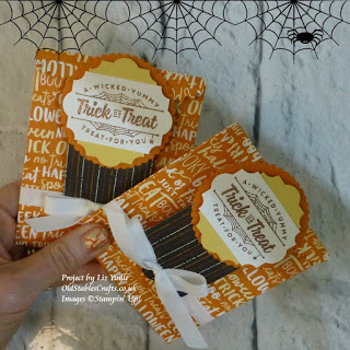 spooky night Halloween trick or treat stampin up mini treat bag