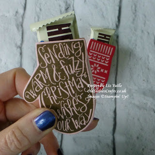 smitten mitten hershey bar holder stampin up christmas