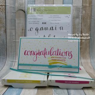 Amazing Congratulations Inspire Create Challenge Handmade card