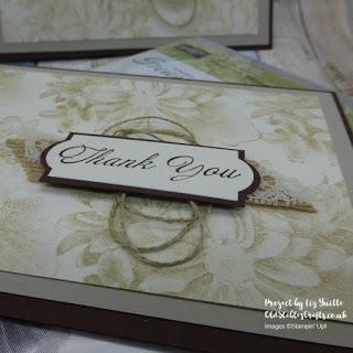 Heartfelt Blooms Sale-a-bration handmade sepia card close up