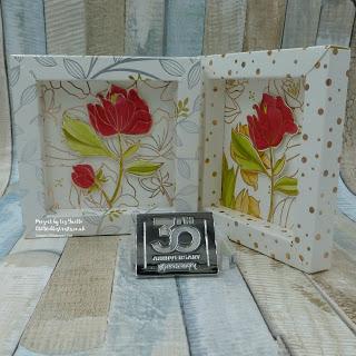 Springtime Foils Box Frame Floral Card