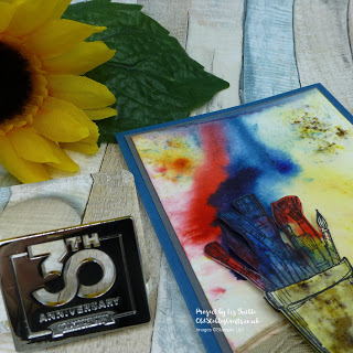 Make it Up Monday Revisited Crafting forever - Brusho Inspired Masculine Card