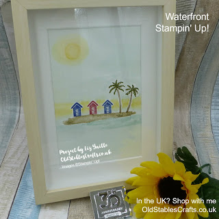 Waterfront stamp set Stampin up Sunshine Project for Inspire create challenge