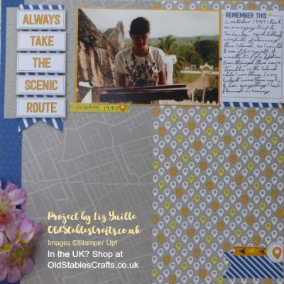 Always Take the Scenic Route – Scrapbook Page