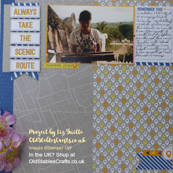 Always Take the Scenic Route - Scrapbook Page