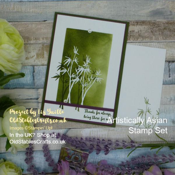 Artistically Asian Mossy Meadow Card