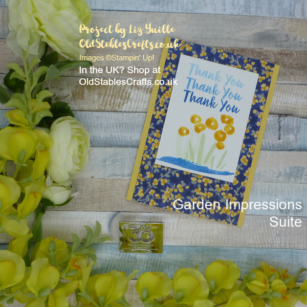Garden Impressions Thank You Card