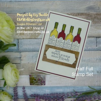 Half Full Wine Crate Card