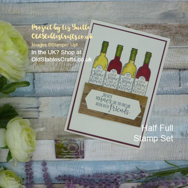 Half Full Wine Crate Card