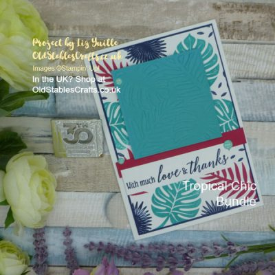 Tropical Chic Global Design Project Card