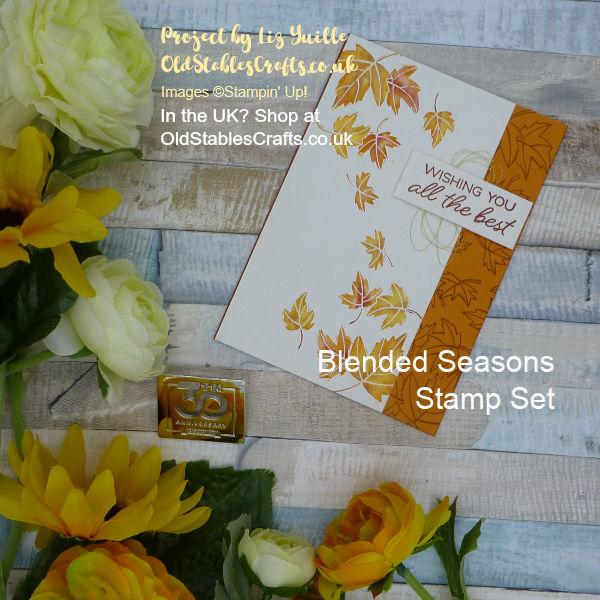 Falling Autumn leaves using Blended Season Stamp Set