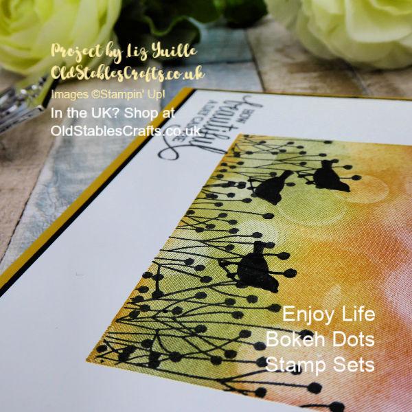 Enjoy Life with Bokeh Dots Card