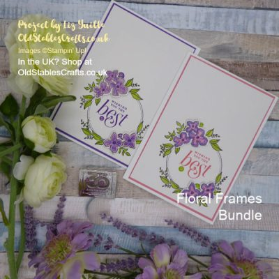Floral Frames Bundle meets Watercolour Pencils Take 2