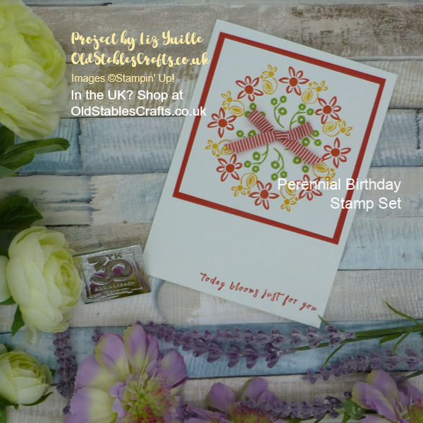Perennial Birthday Wreath Card