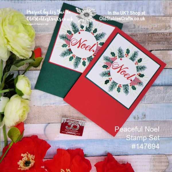 Peaceful Noel Wreath Card