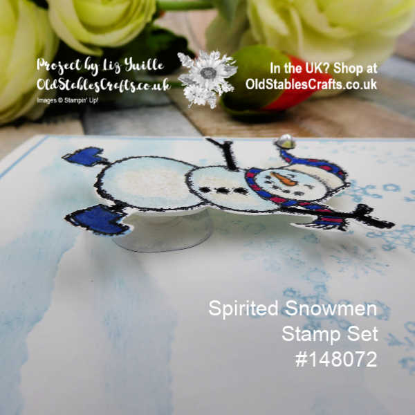 Spirited Snowmen Wobble Card