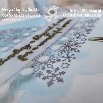 Super Easy Snow Is Glistening Heat Embossed Card
