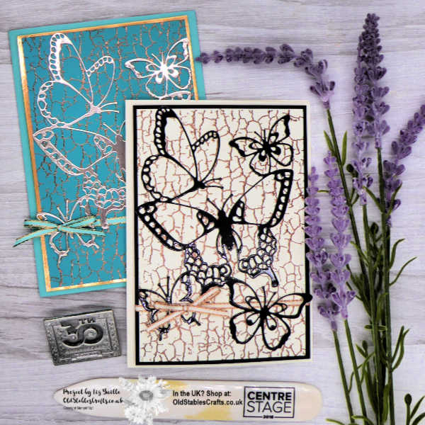 Butterfly Beauty and Crackle Paint Cards