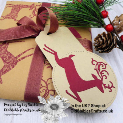 Eco Friendly Christmas Wrapping Paper and Handmade Gift Tag