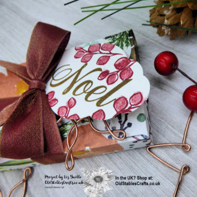 Frosted Floral Envelope Punch Board Box for Gifting