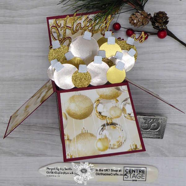 Making Christmas Bright fold flat Box Card