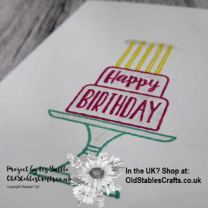 Simple stamping Saturday Piece of Cake close Up