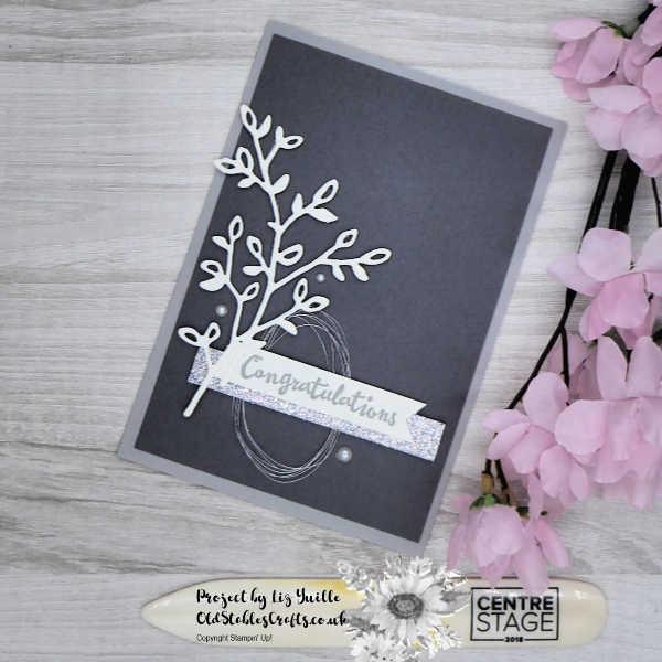 Elegant Monochrome Petal Palette Card