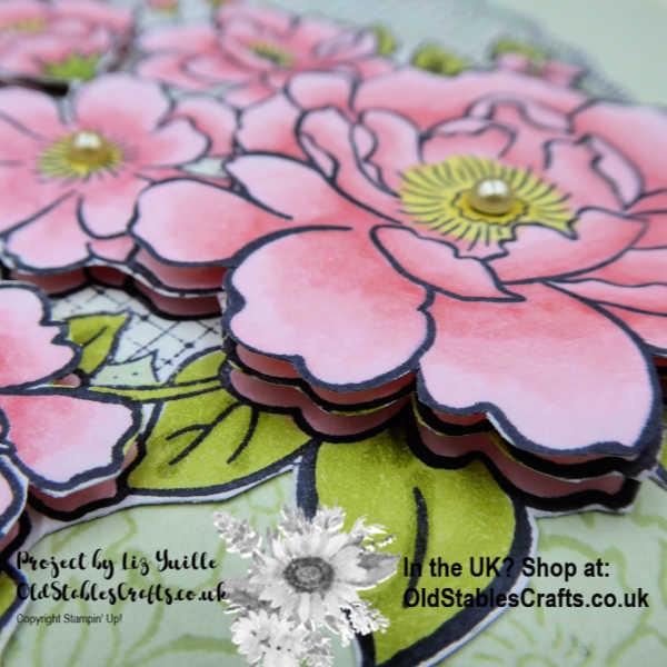 Lovely Lattice Decoupage Card Close Up