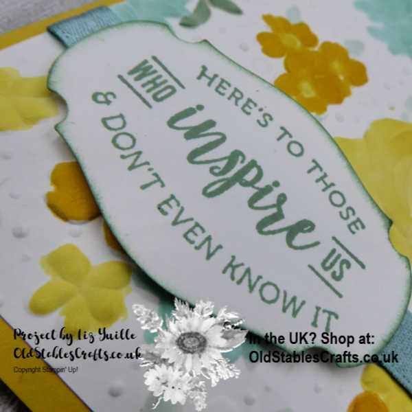 Country Floral Embossed Card