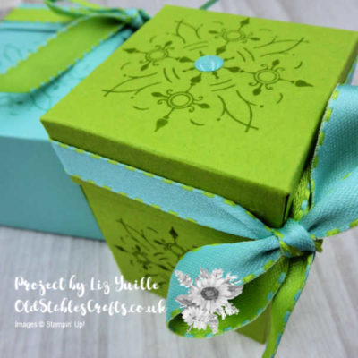 All Adorned Tone On Tone Stamped Box – So Cute and Easy!