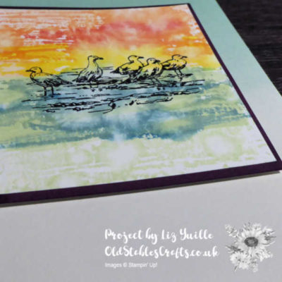 By The Bay Delightfully Detailed Colour Block Note Card