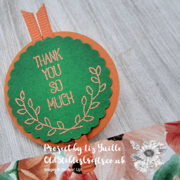 Painted Seasons Thank You gift Pouch