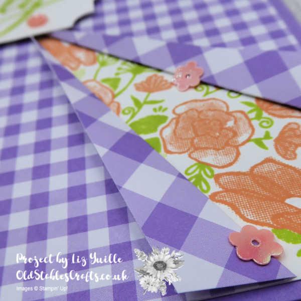Gingham Gala Craft Box Peekaboo Card