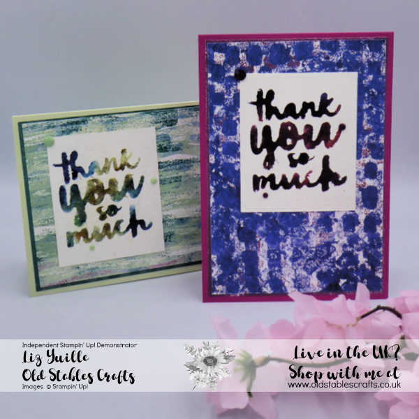 Have Fun Stamping With Brusho
