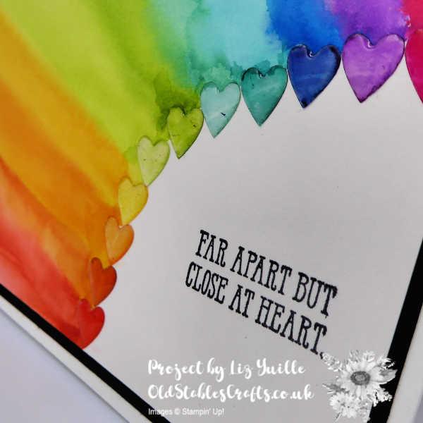 A Rainbow Full of Hearts - Watercolour Technique