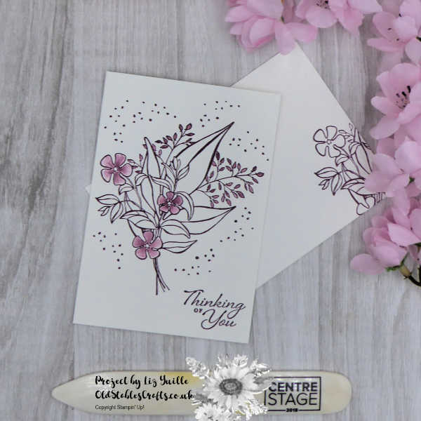Simple stamping Floral Romance - Simple version