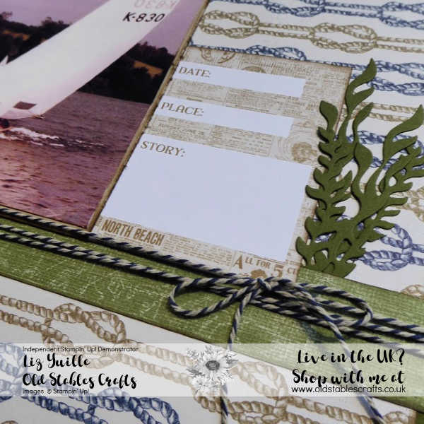 Masculine Scrapbook - Come Sail Away Suite Close Up