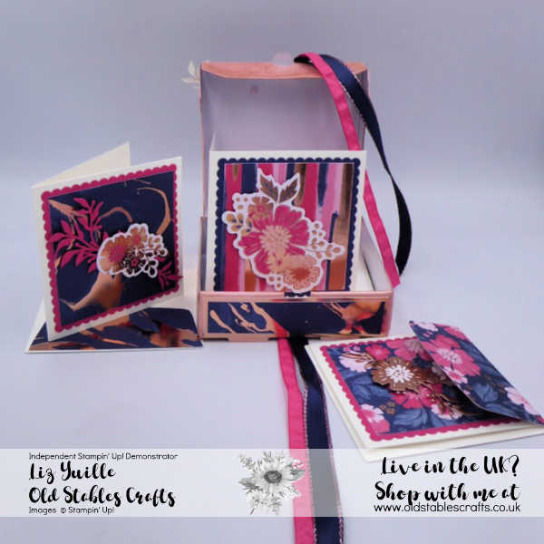 Rosy Mini Pizza Box Cards