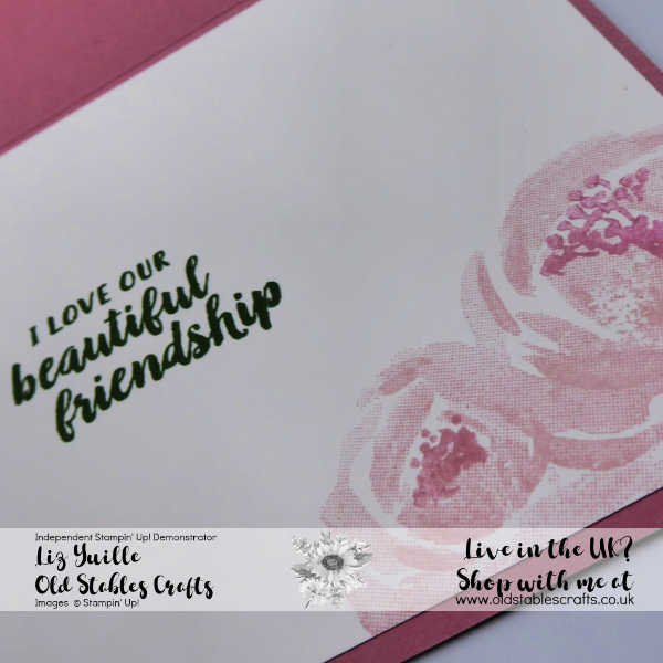 Beautiful Friendship Quick and Easy Cards Blushing Bride and Rococo Rose inside