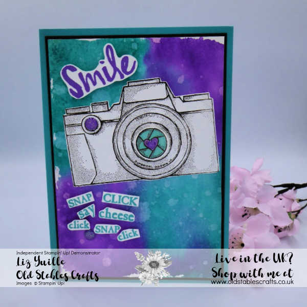 Capture the Good Bermuda Bay Gorgeous Grape watercolour effect card