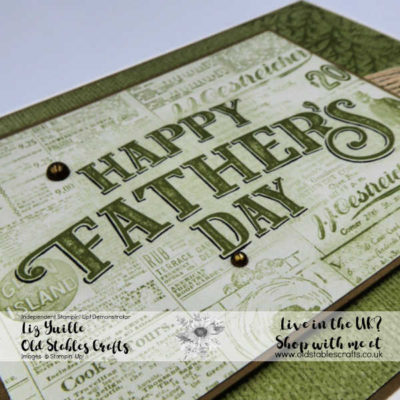 Welcome to Father's Week – Come Sail Away with a Quick No Stamping Card
