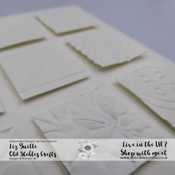 Dry and Heat embossed card