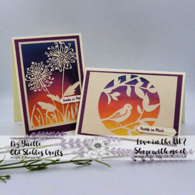 Shimmer Detailed Laser-Cut Specialty Paper Sunset Cards